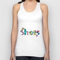 shoes Tank Tops featuring Shoes by Anthony Mwangi