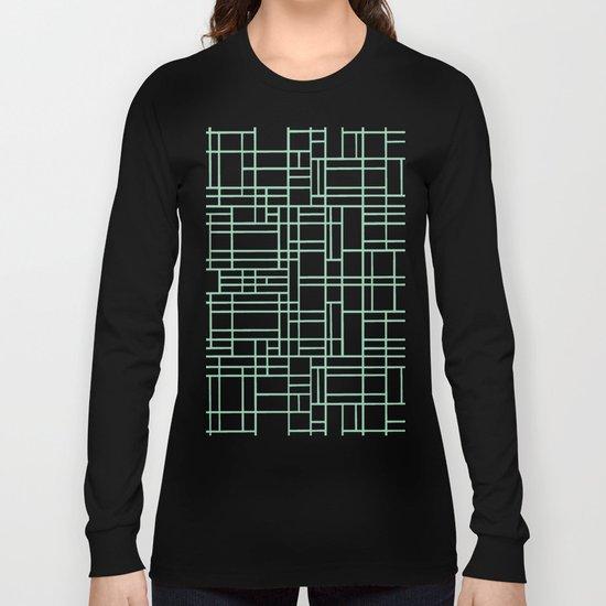 Map Outline Mint Long Sleeve T-shirt