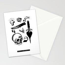 Tattoo Flash Black #01 Stationery Cards