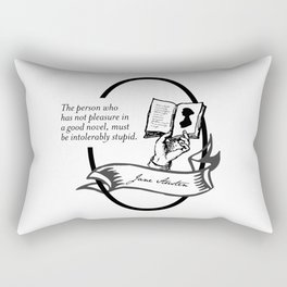 Jane Austen - Book Lover Quote Rectangular Pillow