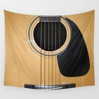 guitar Wall Tapestries featuring Guitar by Nicklas Gustafsson