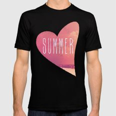 Summer Love Black Mens Fitted Tee MEDIUM