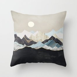 Silent Dusk Throw Pillow