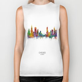 Chicago Illinois Skyline Biker Tank