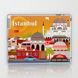Istanbul, Turkey - Skyline Illustration by Loose Petals Laptop & iPad Skin
