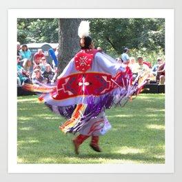 Native Shaw Dance Art Print