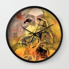 Autumn Ginkgo Leaves Wall Clock