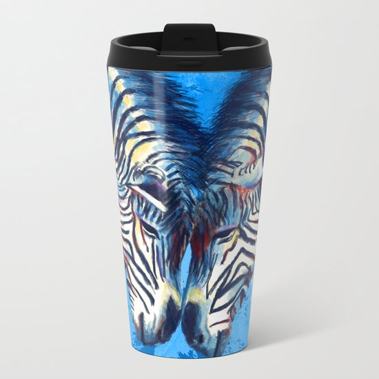 Friendship - Zebra portraits Metal Travel Mug