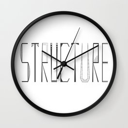 Strucure Typography Grapc Design Wall Clock