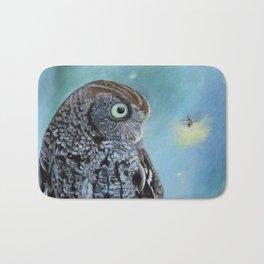 Owl and Lightning Bugs Bath Mat
