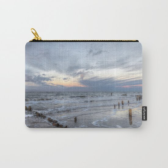 Cold sundown at the beach Carry-All Pouch