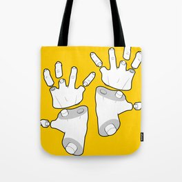 Puzzle Hands Tote Bag