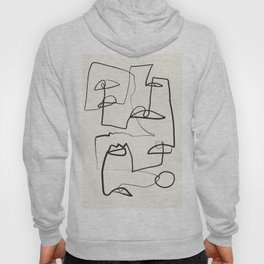 Abstract line art 12 Hoody