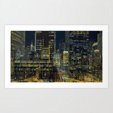 The city 5 Art Print