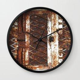 Rusted Door Wall Clock