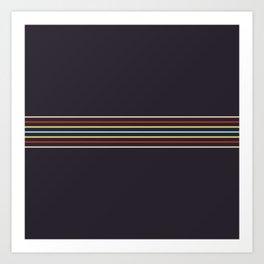 Multicolor Fine Lines Art Print