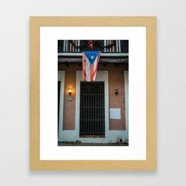 The flag of Puerto Rico Framed Art Print