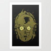 c3po Art Prints featuring C3PO by Peyeyo