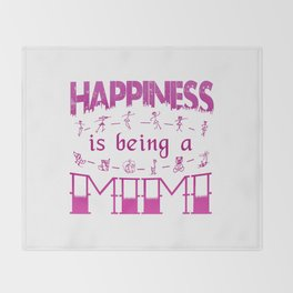 Happiness is Being a MIMI Throw Blanket