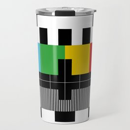 Test Pattern Travel Mug
