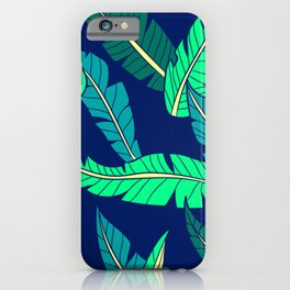 Tropical Leaf Pattern in Gorgeous Green and Teal iPhone Case