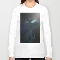 pacific rim Long Sleeve T-shirts featuring Kaiju from Pacific Rim by Thecansone
