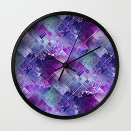 Marbleized Amethyst Wall Clock