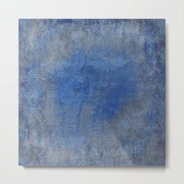 Blue and Gray Rough Texture Metal Print