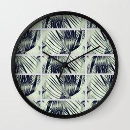 Green Palm Leaves Pattern #1 #decor #art #society6 Wall Clock