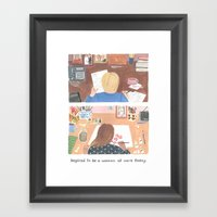 Inspired to be a Woman at Work Framed Art Print