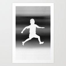 Body Movin - Joy B&W Inverse Art Print