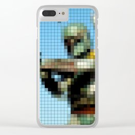 Boba Fett with Blaster Pixel Clear iPhone Case