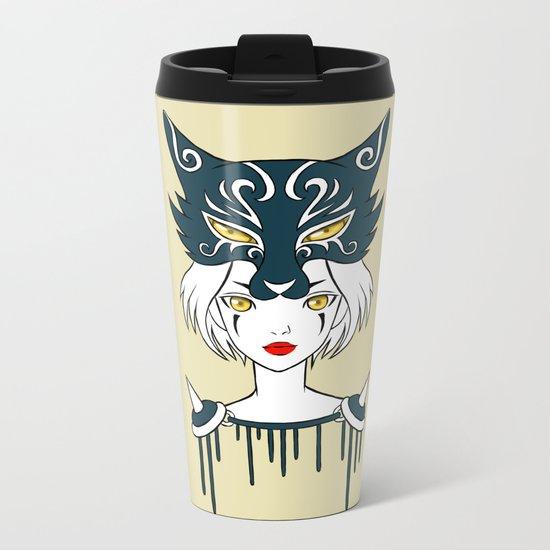 Wolf Tribe Metal Travel Mug