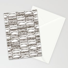 Burgers Wall Stationery Cards