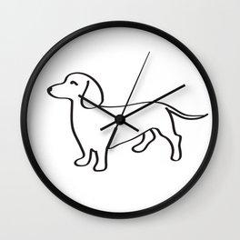 Doxie Love Wall Clock