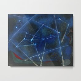 Heavenly Bodies, Stars, Constellations, & Milky Way landscape painting by Rufino Tamayo Metal Print