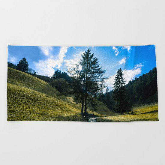 Fields of Green Beach Towel