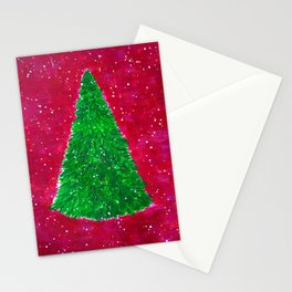 Minimalistic New Year Tree Stationery Cards