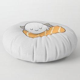 sleepy sushi Floor Pillow