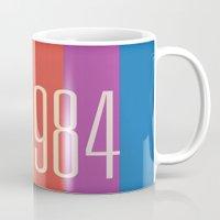 1984 Mugs featuring 1984 (v) by Dan Rubin