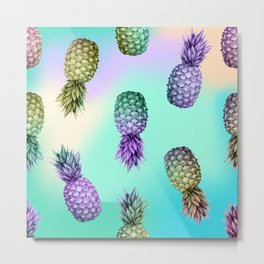 Pineapple Glow Metal Print