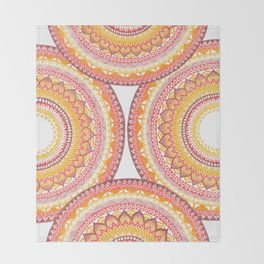 Summer Vibe Mandala Throw Blanket