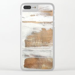 Wood planks shipboard repairing Clear iPhone Case