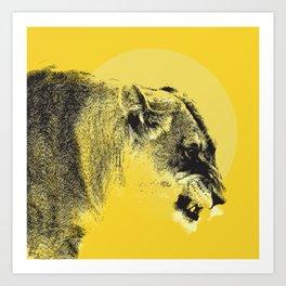 Lioness Lion Art Print