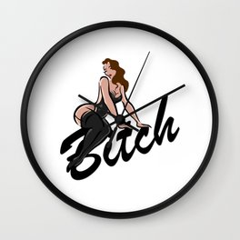 Bitch Vintage Wall Clock