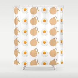 Egg Bomb Shower Curtain