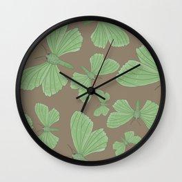Emerald Moth Wall Clock