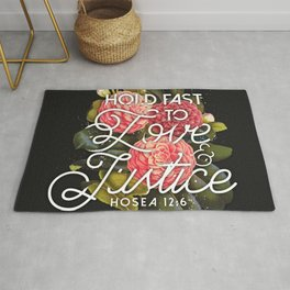 LOVE AND JUSTICE Rug