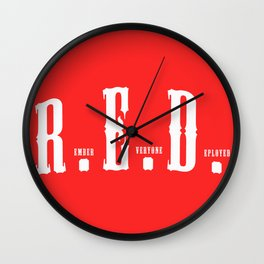 RED(R.E.D.) Wall Clock