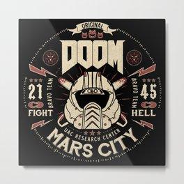Doom - Fight Hell Metal Print